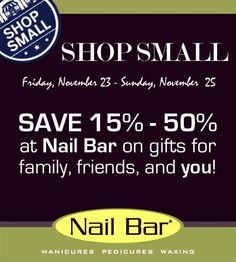 Save 15 50 This Weekend On Gift Cards And Stocking Stuffers At Nail Bar