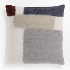 Felt Colorblock Pillow Cover - Nightshade