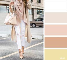 Белый хорошо комбинируется со всеми другими цветами. Особенно выигрышно он смотрится с синим, красным и черным. Для создания повседневного образа обратите внимание на красивое сочетание белого с песочным или коричневым. Такие сдержанные цвета будут прекрасно смотреться и в деловом стиле.