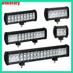 weketory 4 6.5 9.3 12 17 inch 30W 60W 90W 120W 180W 5D LED Work Light Bar for Tractor Boat OffRoad 4WD 4x4 Truck SUV ATV 12V 24v