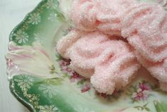 Pink Meringues on Antique China, from Such Pretty Things