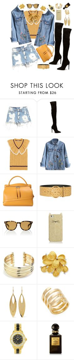 """Untitled #492"" by alex-vujanovic ❤ liked on Polyvore featuring Furst of a Kind, Miu Miu, Jil Sander, Karen Millen, Oliver Peoples, Chassè, Kate Spade, Belk Silverworks, Kenneth Jay Lane and Jennifer Zeuner"