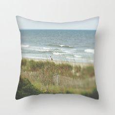 Beach Photo Decorative Pillow Cover Beach House Decor
