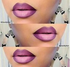 I don't normally wear lipstick, but I love how this looks! Purple Ombre Lips by Melissa M. Click the pic to see the fab products she used. Pretty Makeup, Love Makeup, Makeup Looks, Makeup Tips, Makeup Ideas, Purple Ombre, Violet Ombre, Lipstick Colors, Lip Colors