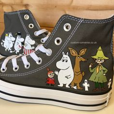 e882625518de High top converse hand painted with a Moomins character design. Custom  Converse