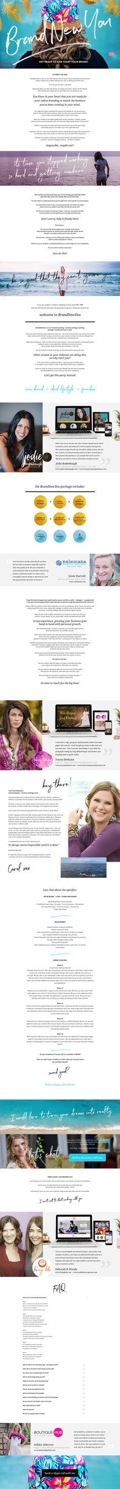 Kickstart your business through expert logo design + web site design + programming + 6 hours of brand strategy - all in 5 weeks?  I am Carol and I am so excited to share with you my all inclusive package that will turn your business around in record time. Get your business noticed and your dream clients NOW - click on the link below and lets make it happen!  http://brandnewyou2017.com/