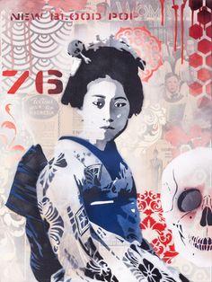 Urban Pop Art from New Zealand-based artist Brad Novak (aka New Blood Pop) Graphic Artist, Paper Collage, Artist, Artist Models, Graphic Design Pattern, Pop Artist, Woodcut, Pop Art, Original Artwork