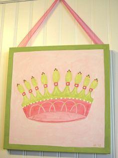 Baby nursery Children wall art Nursery paintings by theivylane, $38.00