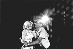 Marilyn Monroe dancing with  Arthur Miller on the set of The Misfits,  Hollywood, 1960 by Eve Arnold