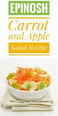 One of the best salads for spring summer is the carrot and apple lettuce Plus this is an ideal recipe to accompany light dishes and to give color to our meals.