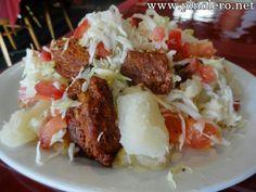 Pork, Yucca & salad - Nicaragua