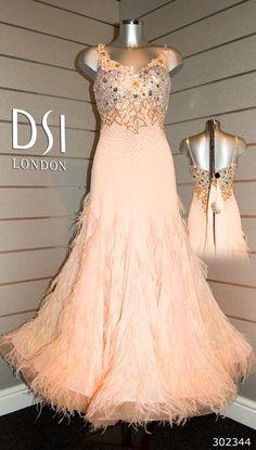 Erin Boag champagne ballroom dress