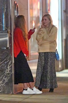 Get The Olsen Twins' Latest Skirt And Sweater Combo For Fall