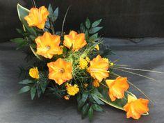 Wiązanki okolicznościowe Pokaz Florystyki Żałobnej STROIK NA GRÓB - KOMPOZYCJA KWIATOWA - WIĄZANKA ,funeral sprays & wreaths