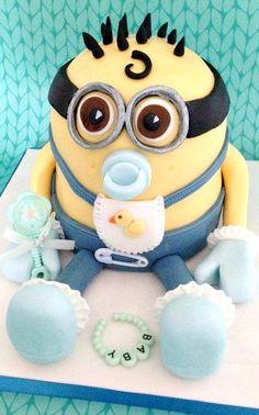 Baby Minion Cake