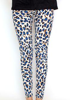 Kολάν Leopard Blue  www.myfashionfruit.com