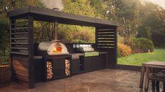 Outdoor Garden Bar, Outdoor Kitchen Patio, Outdoor Kitchen Design, Outdoor Living, Outdoor Barbeque, Backyard Barbeque, Outdoor Fireplace Patio, Barbacoa, Garden Deco