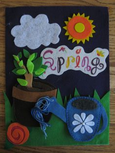 Seasons Quiet Book Pages.  Includes: Summer, Fall, Winter, and Spring. $25.00, via Etsy.