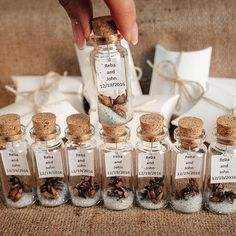 Wedding favors for guests Message in a bottle Rustic wedding favor Personalized Winter Unique Thank You Gift Silver White Beige Shabby favor #ad #affiliate