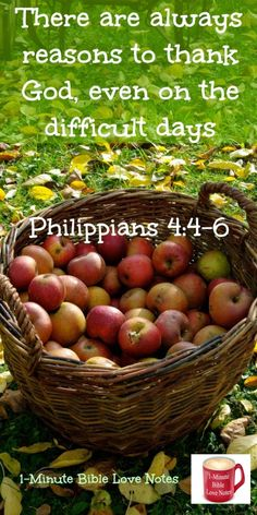 """Sometimes have difficulty being thankful?Try this: Before each prayer request, thank God for something related to the request. """"in every situation, by prayer and petition, with thanksgiving, present your requests to God."""" Phil. 4:6"""