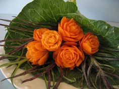 carrot-rose-carving
