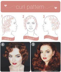Rita Hayworth hair tutorial