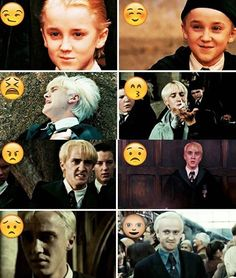 The many emoji faces of Malfoy lol