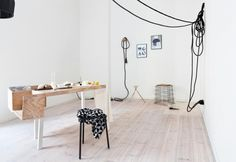 Mixing natural materials and nordic influences, this Berlin apartment is by Belgian interior designer Sarah Van Peteghem.