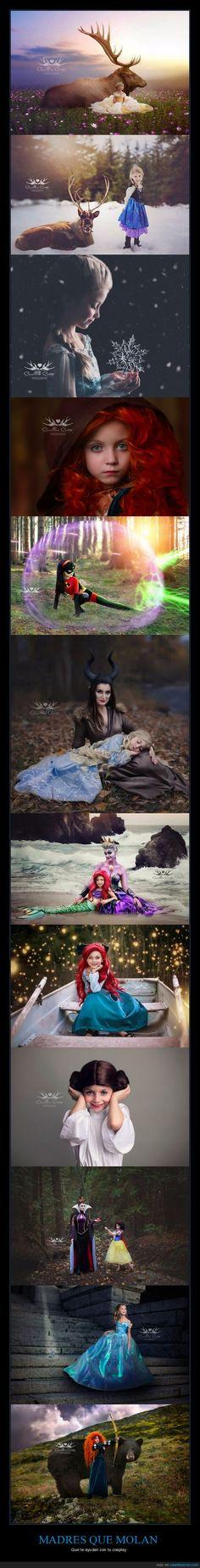 Madre e hija hacen juntas cosplays de Disney y el resultado es mejor que las películas reales - Que te ayudan con tu cosplay