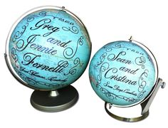 blue marriage globes | The ImagineNations Blog