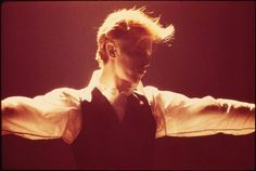 David Bowie by Andrew Kent.  Isolar tour.