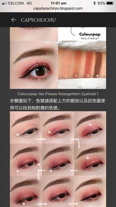Korean Makeup Look, Asian Eye Makeup, Eye Makeup Tips, Makeup Inspo, Eyeshadow Makeup, Makeup Inspiration, Beauty Makeup, Anime Makeup, Kiss Makeup