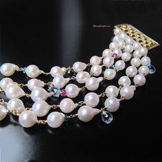 Perle Armband Multi Strang  Aphrodite  von MariaCossuttaMonaco
