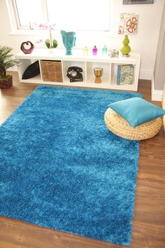 Thick-Soft-Ribbons-High-Quality-Polyester-Shaggy-Rugs-Small-Large-XL-Plain-Shiny