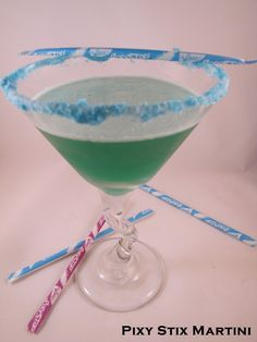 Big Mama's Home Kitchen: Cocktail Friday ~ Pixy Stix Martini for the Ladies!