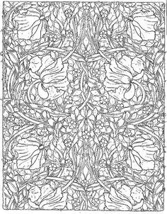 galerie de coloriages gratuits william morris art william morris artcoloring bookscolouringgallery