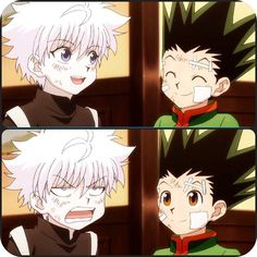 Gon be like my two moods are very happy and happy  Killua be like my moods are happy and annoyed and so mad I will kill you