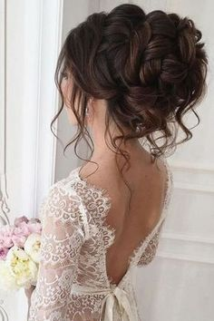30 Elegant Wedding Hairstyles For Stylish Brides ❤ See more: www.weddingforwar, 30 Elegant Wedding Hairstyles For Stylish Brides ❤ See more: www.weddingforwar 30 Elegant Wedding Hairstyles For Stylish Brides ❤ See more: www. Unique Wedding Hairstyles, Elegant Hairstyles, Hairstyle Wedding, Style Hairstyle, Chic Hairstyles, Bridal Hair Updo Loose, Hairstyles For Brides, Bridal Updo, Trending Hairstyles