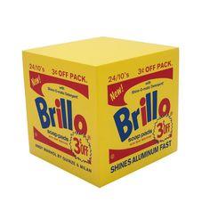 Andy Warhol Brillo Box Yellow pouf, ca. 2015 EHC Fine Art