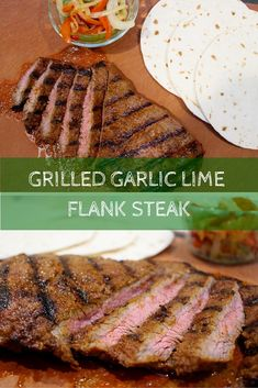 Grilled Garlic Lime Flank Steak Takes Taco Tuesday To A Whole New Level With Simple Ingredients And A Flavorful Marinade. Top With Fresh Veggies And Salsa And You Have Yourself One Healthy Meal Momnutrition Grilled Fish Recipes, Healthy Grilling Recipes, Good Healthy Recipes, Beef Recipes, Cooking Recipes, Healthy Meals, Healthy Steak, Healthy Eating, Clean Recipes
