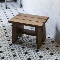 Classic Wooden Step Stool, Natural Finish, Rustic Home Decor for Kitchen and Bat. - Classic Wooden Step Stool, Natural Finish, Rustic Home Decor for Kitchen and Bathroom by Peg and Aw - Diy Stool, Step Stools, Bench Stool, Wood Steps, Into The Woods, Hygge Home, Wooden Stools, Decoration, The Originals