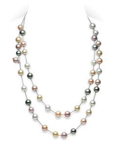 Multicolor Pearls Necklace by Mikimoto