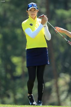 Women Athletes, Golf Wear, Short Sleeves, Long Sleeve, Golf Outfit, Athletic Women, Asian Woman, Polo Shirt, Tights