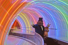 Journey Into Imagination Rainbow Corridor (with Dreamfinder and Figment, of course).