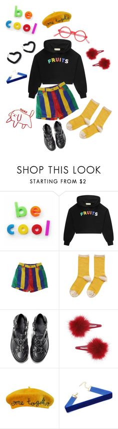 """""""Be Cool"""" by tbabs ❤ liked on Polyvore featuring Être Cécile, Hansel from Basel, UNIF, Topshop, Cynthia Rowley, fruits, primarycolors, rainbow, colorblock and primary"""