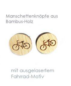 Manschettenknöpfe - Manschettenknöpfe Fahrrad - ein Designerstück von SchmuckNatur bei DaWanda