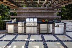 """Check out our web site for even more details on """"outdoor kitchen designs layout patio"""". It is actually a superb place to read more. Modern Outdoor Kitchen, Outdoor Kitchen Bars, Outdoor Living, Outdoor Decor, Outdoor Kitchens, Outdoor Ideas, Party Outdoor, Cute Kitchen, Kitchen Island"""