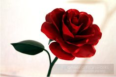Metal Rose  (Pick a color!) by PioneerArtisanworks on Etsy, $40.00