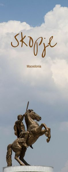 The iconic Alexander the Great Statue in Skopje, Macedonia was just one of the many that we saw in this capital city.  An up and coming tourist attraction in Eastern Europe, click to find out things to do in Skopje.