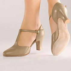 These So Danca character shoes have a heel, t-strap, and suede sole. Purchase this stylish, all leather Broadway-style character shoe online today. Cute Shoes, Me Too Shoes, Pretty Shoes, Ballroom Dance Shoes, Dancing Shoes, T Strap Shoes, Vintage Shoes, Nike, Summer Shoes
